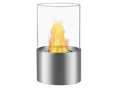 Portable Ventless Bio Ethanol Tabletop Fireplace - Circum Stainless Steel Ignis