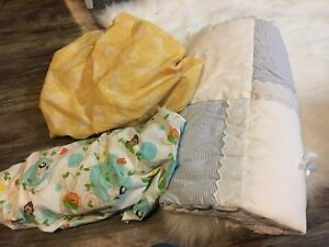 Fitted crib sheets and blanket $10