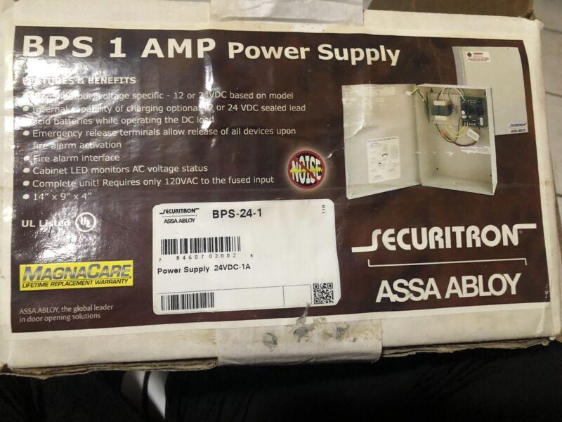 NEW Securitron BPS-24-1 24VDC 1 AMP Power Supply 120VAC