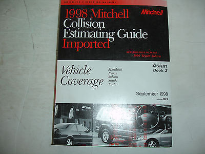 1998 Mitchell Nissan Subaru Toyota Collision Parts Time Estimating Manual Guide