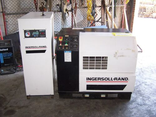 INGERSOLL RAND 20 HP ROTARY SCREW COMPRESSOR SSR-EP20 W/ DRYER HTD-100