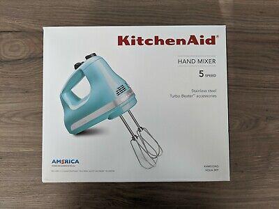 KitchenAid KHM512AQ Ultra Power 5 Speed Hand Mixer Blender in Aqua Sky Color