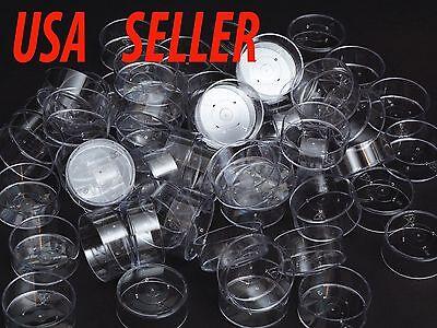 100 Clear Plastic Tea light Cups Polycarbonate Tea Light Molds