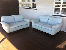 Two Laura Ashley Abingdon Two Seater Sofas in Duck Egg Camp Hill Brisbane South East Preview