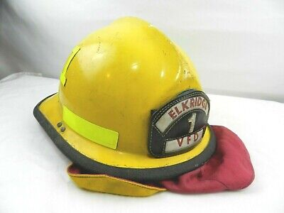 Cairns N660c 660c Yellow Firefighter Helmet Bunker Elkridge Vfd 1