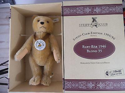 Steiff Teddy Baby Bär 1946 blond Club Edition - limitierte Auflage in OVP (537)