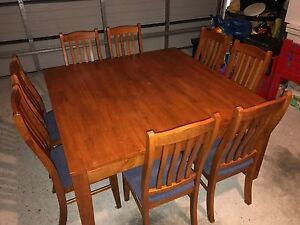 8 Seater Square Dining Table & Chairs Doreen Nillumbik Area Preview