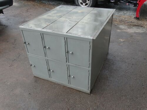 12 Compartment Double Sided Storage Locker. Work Bench Base..PU Only 18405