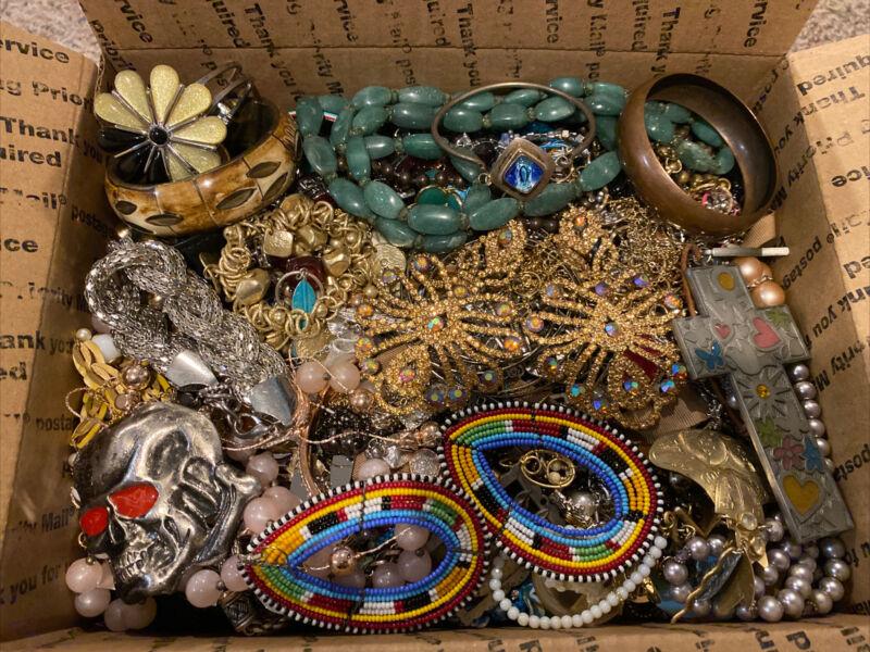 15.5 LB Pound Junk Jewelry Lot