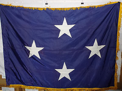 flag815 US Navy 4 Star Full Admiral flag 65 x 49 w/ Gold Fringe Abbot Eagle