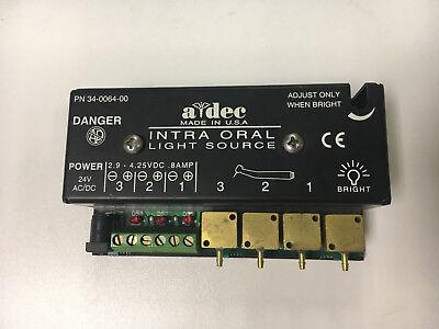 Adec Fiber Optic Dental Intra-oral Light Source A-dec