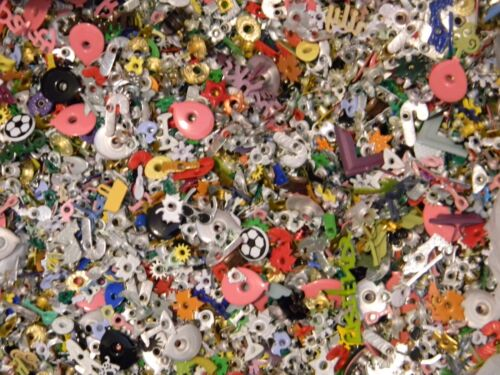 EYELETS & BRADS 1.5 LBS SMALL FLAT RATE USPS BOX FULL MIXED SHAPES & SIZES