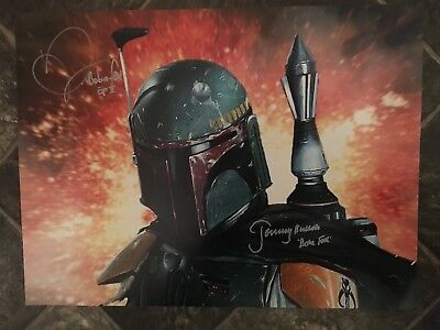 Dual Signed Jeremy Bulloch And Daniel Logan Boba Fett Photograph-Star Wars