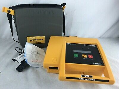 Medtronic Lifepak 500t Training Aed System - Battery - Case - Remote No Pads