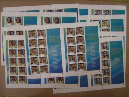 Sydney 2000 Olympic Games Gold Medallists Stamp Sheets