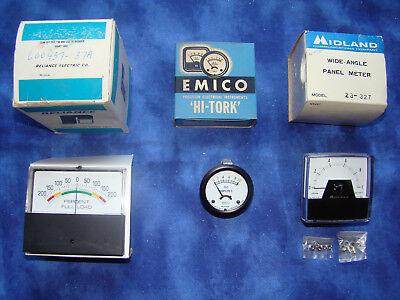 Vintage Panel Meters Gauges Reliance Midland And Emico
