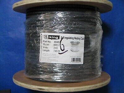 King Electrical Sr245-740 Self-regulating Heating Cable 240v 5wft 740-ft