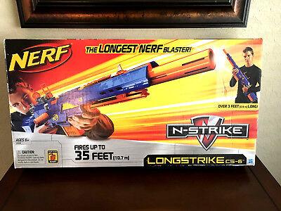 Nerf N Strike Longstrike Cs 6 Dart Blaster   New