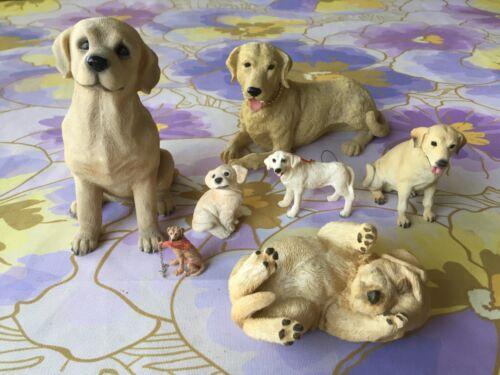 Yellow  Lab Collectables plates figurines Labrador retriever