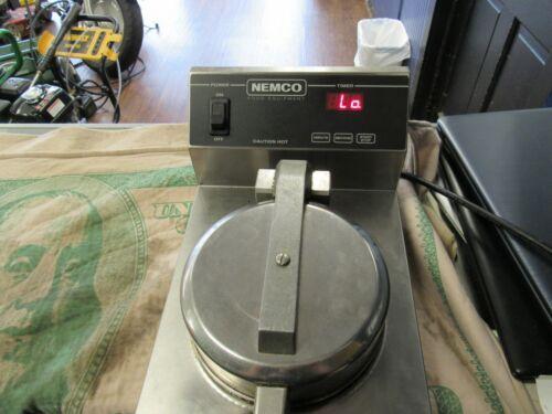 "Nemco 7030 Waffle Cone Baker Iron w/ Single 7"" Diameter Fixed Grid 224772"