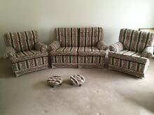 IMPECABLE LOUNGE SUITE - TWO SEATER SOFA, TWO CHAIRS + FOOTSTOOLS Croydon Maroondah Area Preview
