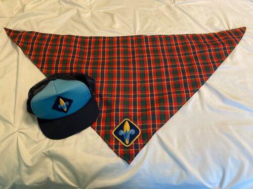 Cub Scouts WEBELOS Plaid Neckerchief BSA with Hat