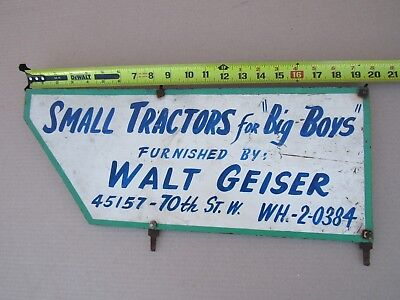 SMALL TRACTORS FOR BIG BOYS OLD SIGN LANCASTER CA. 93536 VINTAGE JOHN DEERE FORD