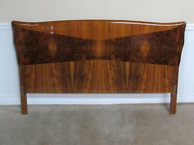 QUEEN SIZE HEADBOARD, HIGH GLOSS WOOD CONTEMPORARY INLAID
