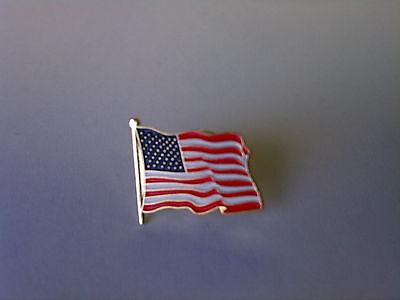 2 - High Quality American Waving Flag Lapel Pins - Patriotic US U.S. USA U.S.A. - Flag Pin