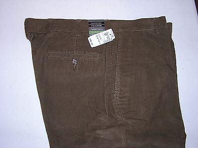 $99.50 New Jos A Bank Tailored Fit cotton plain front corduroy Tan 34 W x 29