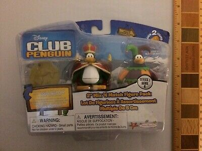 Disney Club Penguin- Series 6 - 2 Figure Pack King & Jester with (Club Penguin Accessory Pack)