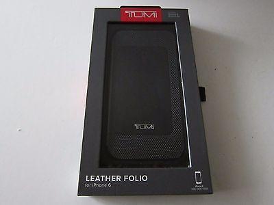 Tumi Premium Leather Folio Case Cover for iPhone 6 6s Black