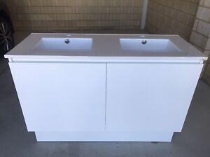 Bathroom double Vanity basin cabinet