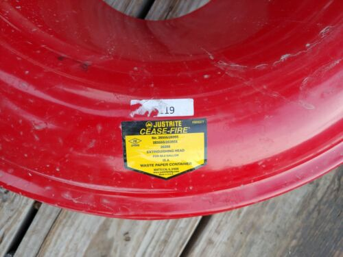 """Justrite Cease-Fire Steel Extinguishing Head for 55 Gal Drums 24"""" Dia. 26355 GRC"""