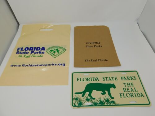 Florida State Parks The Real Florida decorative license plate green panther
