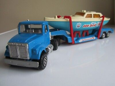 vintage majorette boat transporter sea bird 1:60 scale .used. made in france . for sale  Shipping to South Africa