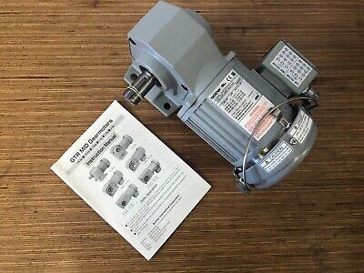 Brother 3-phase Gear Motor 18 Hp 801 Ratio Right Angle Drive - Brand New