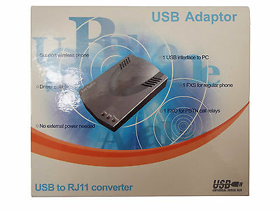 SKYPE PHONE ADAPTER USB- RJ11 BRAND NEW WITH EVERYTHING NEEDED