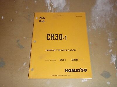 Komatsu Ck30-1 Compact Track Skid Steer Loader Parts Book Catalog Manual