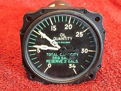 BENDIX AUTOSYN DUAL OIL QUANTITY INDICATOR P/N 6007-61B-7-B PIONEER