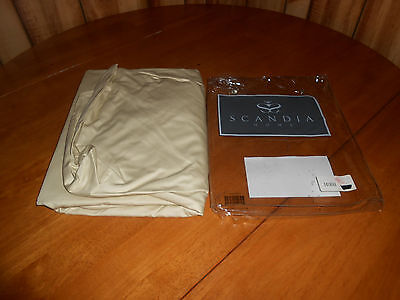 New Scandia Home Style E725 Join XL Long Size CHA Beige Fitted Sheet 400 T/C