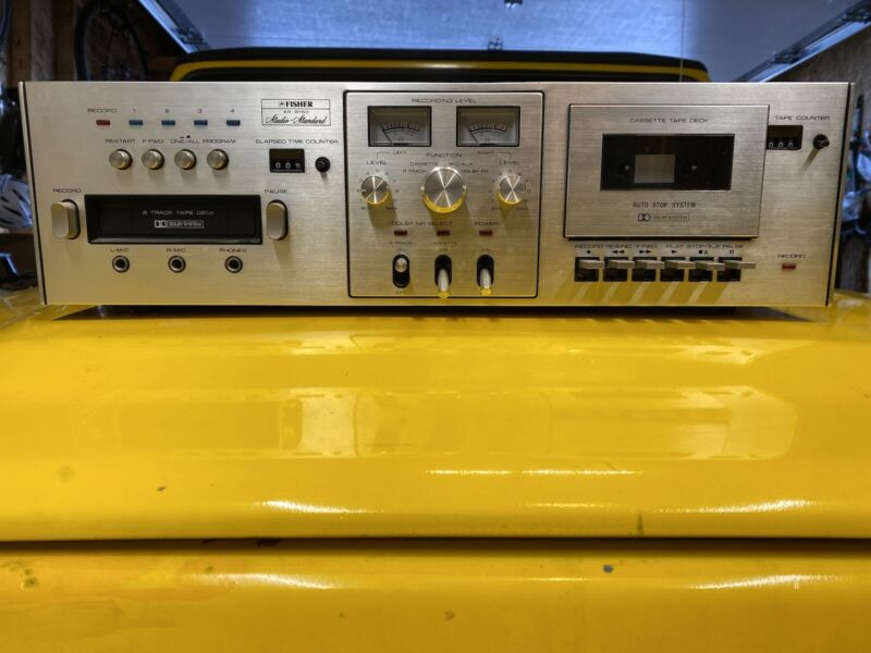 Fisher ER-8150 8 track tape recorder, voice over machine, vintage audio cassette