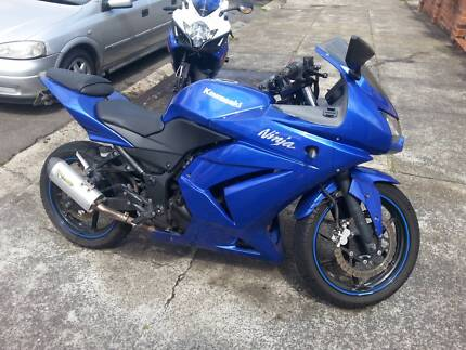 Blue Kawasaki Ninja 250 - Two Brothers exhaust - Good condition Marrickville Marrickville Area Preview