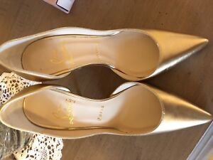 Christian louboutin Gold shoes limited edition
