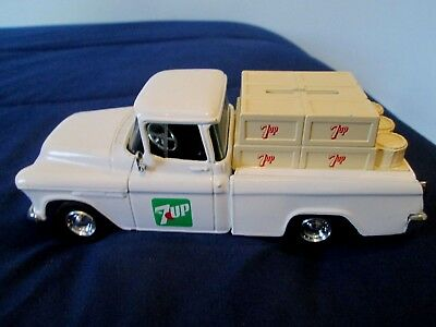 "1955 - CHEVY PICKUP TRUCK BANK - ""7up"" - 1/25 SCALE BY ERTL COLLECTIBLES"