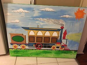 Large kids painting on canvas