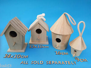Wooden-BIRD-HOUSE-Small-Or-Medium-Plus-Other-CRAFT-Wooden-Items-to-decorate