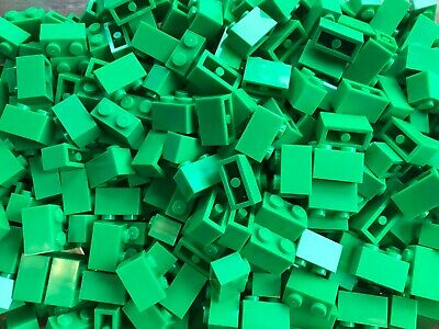 LEGO- BRAND NEW- #3004-1 x 2 BRICK-BRIGHT GREEN-50 BRICKS