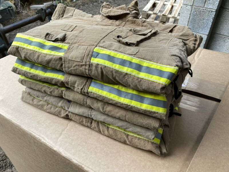 5x Ex Fire & Rescue Jacket Tunic Fire Service Firefighter Thermal JOB LOT Who...