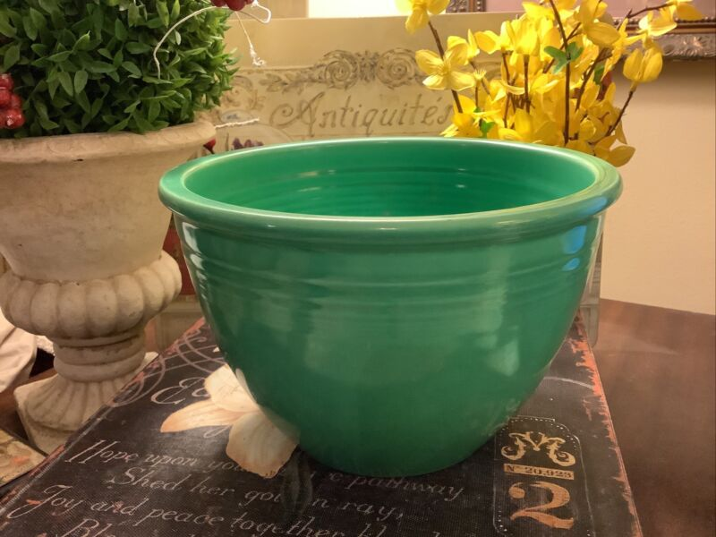 Vintage Fiesta/Fiestaware~#4 Mixing Bowl~1936 To 1944~Original Green~FREE SHIP~